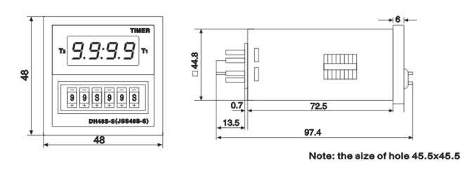 Dh48s S Time Delay Relay 0 1s 99hours Digital Twin Timer Relays Inductive Proximity Sensor Photoelectric Sensor Capacity Sensor Solid State Relay Pcb Relay Timer Relay
