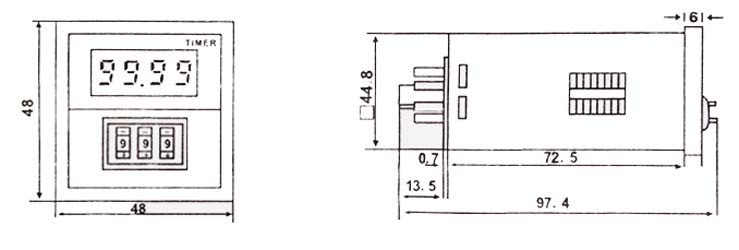 Digital time relay jss20 48ams electronical time timing wiring diagram asfbconference2016 Gallery