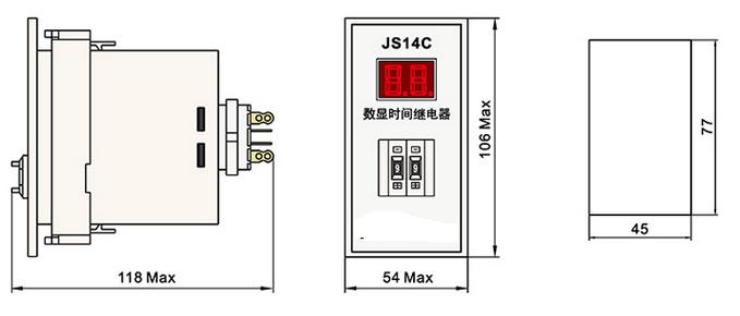 Js14p Mini Time Relay Timing Control Relay Digital Display
